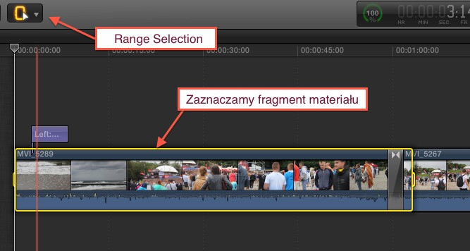 fcpx range selection